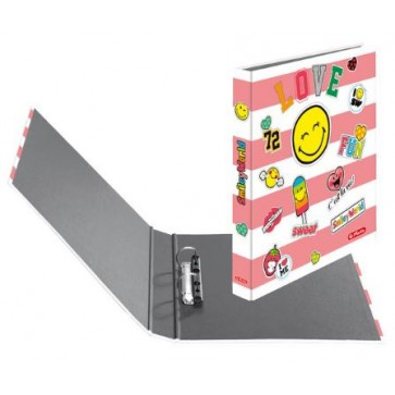 Caiet mecanic, A4, 2 inele, 25mm, HERLITZ Smiley World Girly