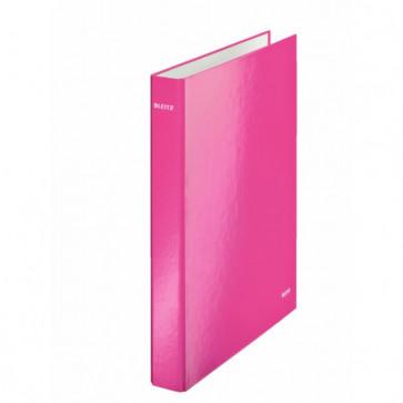 Caiet mecanic, A4, 4 inele DR, inel 25mm, carton laminat, roz metalizat, LEITZ Wow
