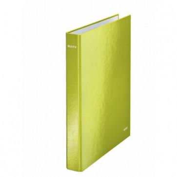 Caiet mecanic, A4, 4 inele DR, inel 25mm, carton laminat, verde metalizat, LEITZ Wow