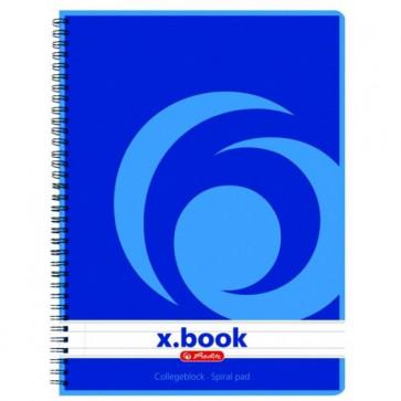 Caiet pentru birou A5, dictando, cu spira, 80 file, HERLITZ  x.book (College)
