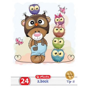 Caiet Tip 2, A5, 24 file, HERLITZ Cute Animals