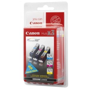 Cartus, 3 culori/set, CANON CLI521C/M/Y