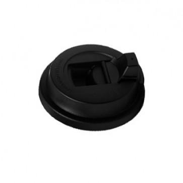 Capace pentru pahare de bauturi calde, negru, 12oz/330ml, 100 buc/set, BRISTOT