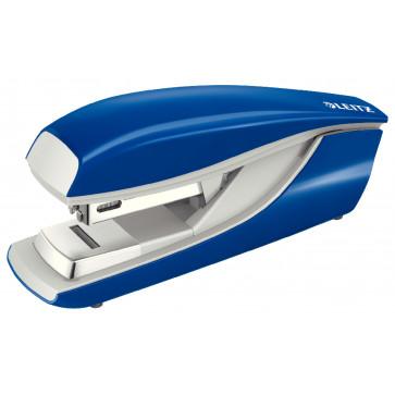 Capsator metalic de birou cu capsare plata, pentru maxim 30 coli, capse 24/6, albastru, LEITZ 5505 NeXXt Series