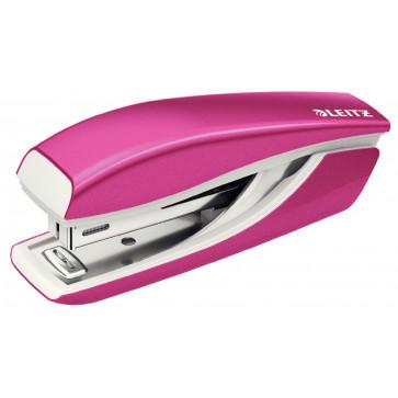 Capsator metalic de birou, pentru maxim 10 coli, capse 10/5, roz metalizat, LEITZ WOW 5528 NeXXt Series