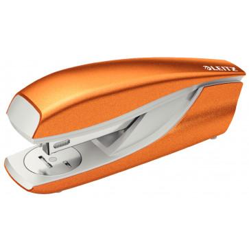 Capsator metalic de birou, pentru maxim 30 coli, capse 24/6, portocaliu metalizat, LEITZ 5502 NeXXt Series
