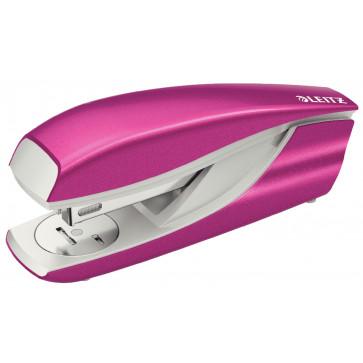 Capsator metalic de birou, pentru maxim 30 coli, capse 24/6, roz metalizat, LEITZ 5502 NeXXt Series