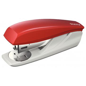 Capsator plastic de birou, pentru maxim 25 coli, capse 24/6, rosu, LEITZ 5501 NeXXt Series