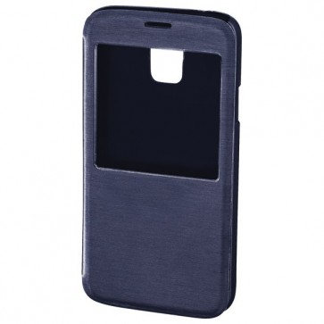 Husa S-View Cover pentru Samsung Galaxy S5, HAMA Booklet Window, Navy