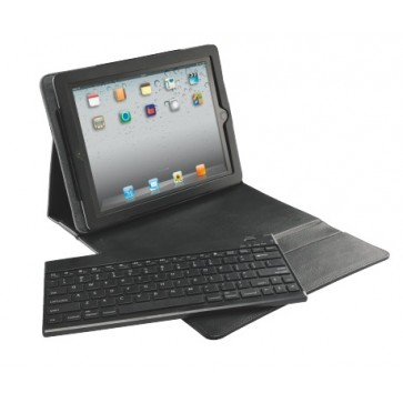 Carcasa cu capac si tastatura pentru noul iPad / iPad 2, QWERTY, negru, LEITZ Complete Classic Pro