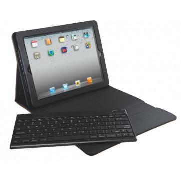 Carcasa cu capac si tastatura pentru noul iPad  iPad 2, QWERTY, negru, LEITZ Complete Tech Grip