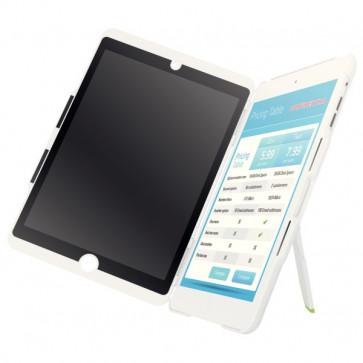 Carcasa cu filtru de confidentialitate portrait pentru iPad mini, alb, LEITZ Complete Privacy