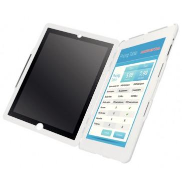Carcasa cu filtru de confidentialitate portrait pentru noul iPad/iPad 2, alb, LEITZ Complete Privacy