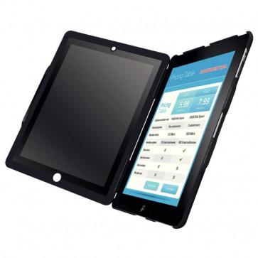 Carcasa cu filtru de confidentialitate portrait pentru noul iPad/iPad 2, negru, LEITZ Complete Privacy