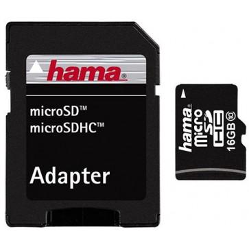 Card microSDHC 16GB HAMA, Class 10, Adaptor SD