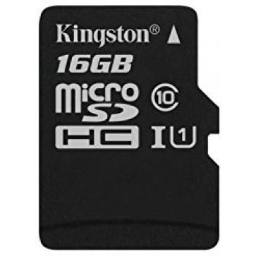 Card microSDHC 16GB KINGSTON, Class 10, UHS-I U1, Ver. G2