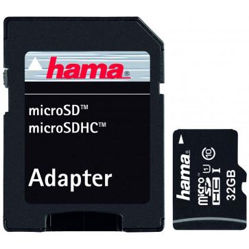 Card microSDHC 32GB HAMA, Class 10, UHS-I, Adaptor SD