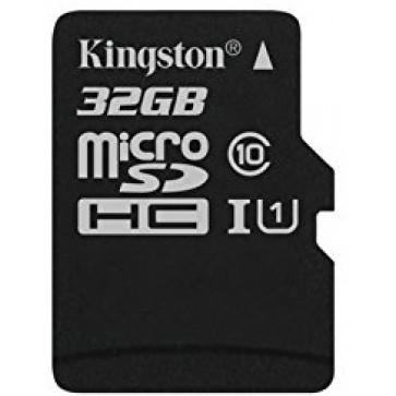 Card microSDHC 32GB KINGSTON, Class 10, UHS-I U1, Ver. G2