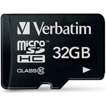 Card microSDHC 32GB VERBATIM, Class 10