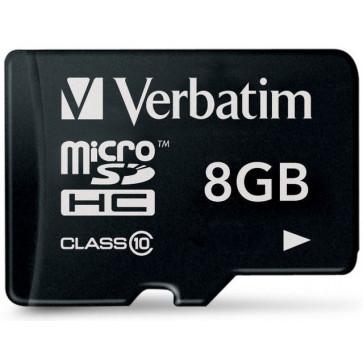 Card microSDHC 8GB VERBATIM, Class 10