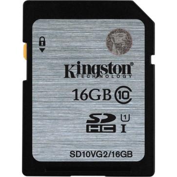 Card SDHC 16GB KINGSTON, Class 10, UHS-I U1, Ver. G2