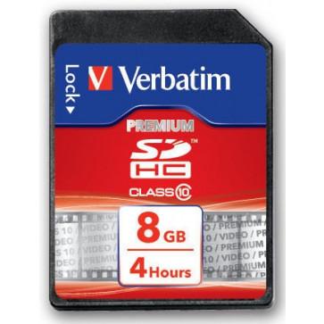 Card SDHC 8GB VERBATIM, Class 10