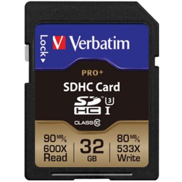 Card SDHC Pro+ 32GB  VERBATIM, Class 10