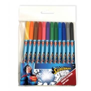 Carioci, 12 culori/set, PIGNA Superman