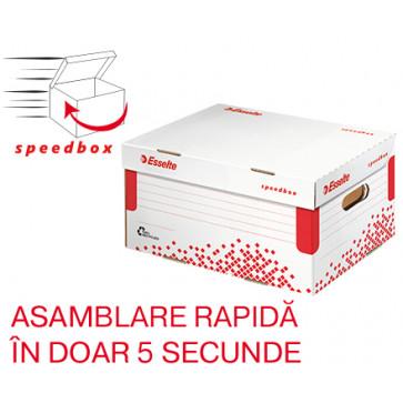 Container pentru arhivare, cu capac, 252 x 193 x 355mm, ESSELTE Speedbox