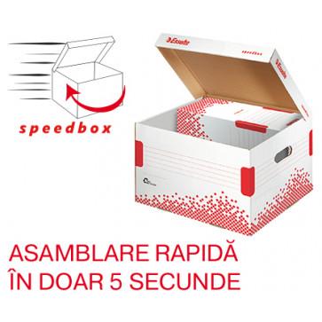 Container pentru arhivare, cu capac, 352 x 263 x 367mm, ESSELTE Speedbox
