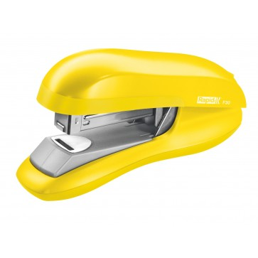 Capsator plastic de birou, pentru maxim 30 coli (capsare plata), capse 24/6, galben, RAPID F30