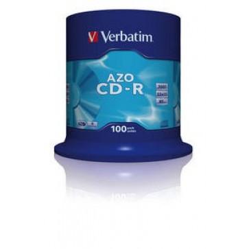 CD-R, 700MB, 52X, 100 buc/bulk, VERBATIM AZO Crystal