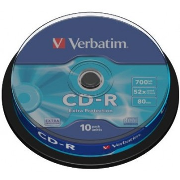 CD-R, 700MB, 52X, 10 buc/spindle, VERBATIM Extra Protection