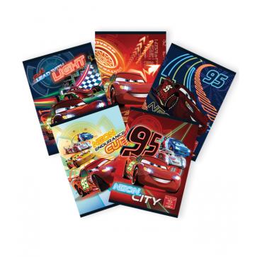 Caiet A5, 48 file, matematica, PIGNA Premium - Cars