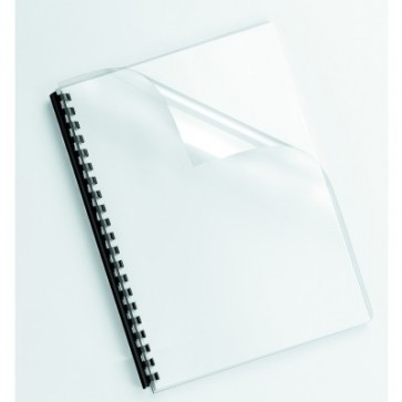 Coperti transparente, cristal, A4, 240 microni, 100 buc/top, FELLOWES