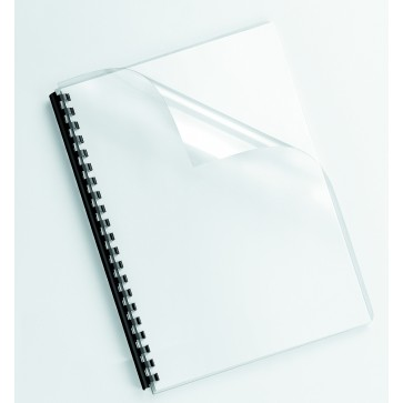 Coperti transparente, cristal, A4, 200 microni, 100 buc/top, FELLOWES