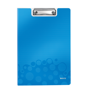 Clipboard A4, cu coperta, albastru metalizat, LEITZ WOW