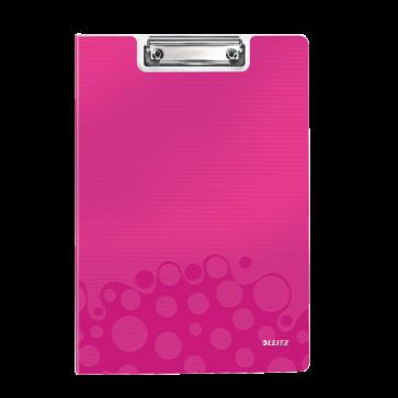 Clipboard A4, cu coperta, roz metalizat, LEITZ WOW
