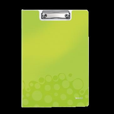 Clipboard A4, cu coperta, verde metalizat, LEITZ WOW