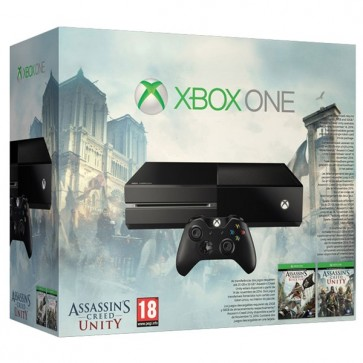 Consola, (fara Kinect) + Assassin's Creed Bundle (Black Flag & Unity - Cod Voucher), XBOX One