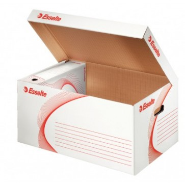 Container pentru arhivare, cu deschidere superioara, 560 x 275 x 370 mm, alb, ESSELTE