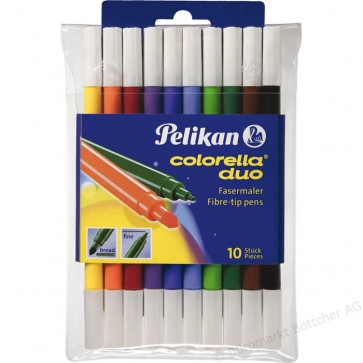 Carioci, cu 2 capete, 10 culori/set, PELIKAN Colorella Duo C407