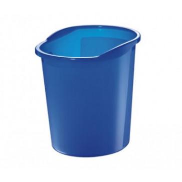 Cos de birou, 13l, albastru semitransparent, HERLITZ
