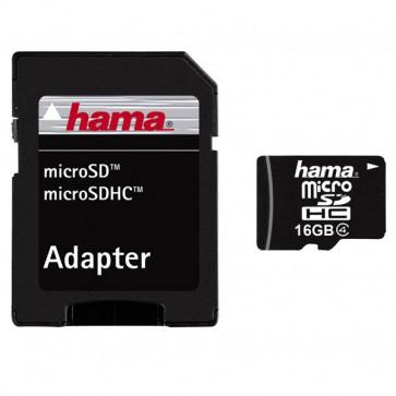 Card de memorie microSDHC 16 GB + adaptor HAMA