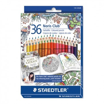 Creioane colorate, 36 culori/set, STAEDTLER Noric Club