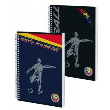 Caiet cu spira, A4, 80 file, matematica, PIGNA Premium FRFotbal