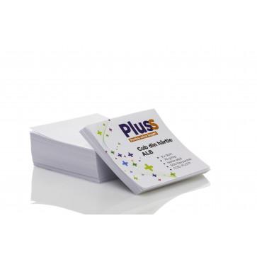 Cub din hartie alb, 9 x 9cm, 70 g/mp, 500 file/set, PLUSS