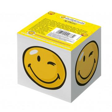 Cub din hartie alb, 9 x 9cm, 80 gmp, 700 fileset, HERLITZ Smiley