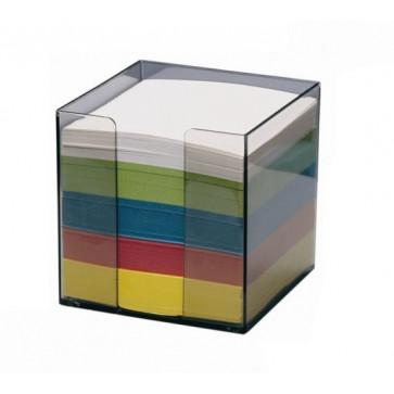 Cub din hartie color, cu suport, 9 x 9cm, 80 g/mp, 750 file/set