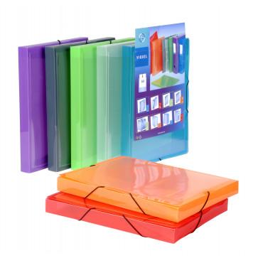 Mapa de prezentare, A4, diverse culori transparente, cu elastic, VIQUEL Coolbox